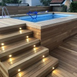 bordo piscina legno