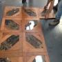 marmo e legno pavimento